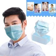 Disposable 3-Layer Face Covering Mask, Anti Dust Breathable Disposable Earloop Mouth Protection Pads